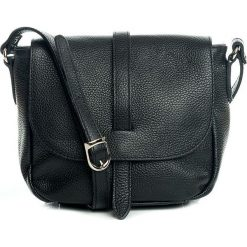 Torebki klasyczne damskie: Skórzana torebka w kolorze czarnym – 24 x 20 x 10 cm