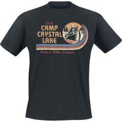 Friday The 13th Visit Camp Crystal Lake T-Shirt czarny. Czarne t-shirty męskie z nadrukiem Friday The 13th, xxl, z okrągłym kołnierzem. Za 74,90 zł.