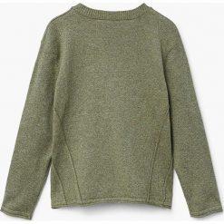 Mango Kids - Sweter dziecięcy Peter 110-164 cm. Szare swetry chłopięce Mango Kids, z bawełny, z okrągłym kołnierzem. Za 69,90 zł.