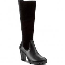 Kozaki CAPRICE - 9-25621-29 Black Comb 019. Czarne buty zimowe damskie Caprice, ze skóry, na obcasie. W wyprzedaży za 349,00 zł.