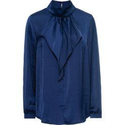 Bluzki damskie: Bluzka satynowa z falbanami bonprix kobaltowy