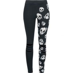 Spodnie damskie: Outer Vision Skeleton Heads Legginsy czarny/biały