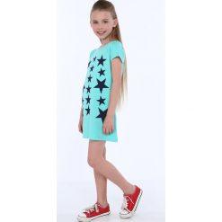 Sukienka dziewczęca w gwiazdki miętowa NDZ8244. Szare sukienki dziewczęce marki Fasardi. Za 49,00 zł.