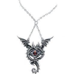 Alchemy Gothic Eye of the Dragon Naszyjnik srebrny. Szare naszyjniki męskie Alchemy Gothic, srebrne. Za 164,90 zł.