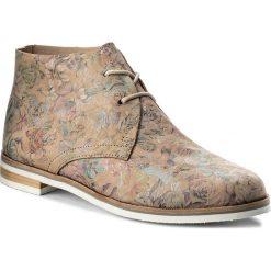 Botki CAPRICE - 9-25100-20 Beige Flow Mul 490. Brązowe buty zimowe damskie Caprice, ze skóry ekologicznej, na obcasie. W wyprzedaży za 199,00 zł.