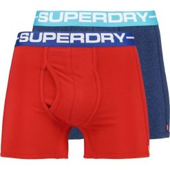 Superdry SPORT BOXER 2 PACK Panty sonic blast blu/yacht club red. Niebieskie bokserki męskie Superdry, z bawełny. Za 129,00 zł.