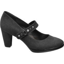 Czółenka damskie Graceland popielate. Szare buty ślubne damskie Graceland, z materiału, na obcasie. Za 62,00 zł.