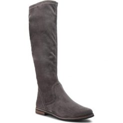 Kozaki CAPRICE - 9-25507-21 Dk Grey Strect 250. Szare buty zimowe damskie Caprice, z materiału, na obcasie. W wyprzedaży za 189,00 zł.