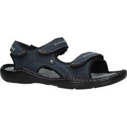 Granatowe sandały na rzepy Casu 9S-FH86408. Czarne sandały męskie Casu, na rzepy. Za 59,99 zł.