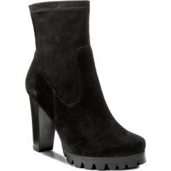 Botki LASOCKI - MOKKA-08 Czarny. Czarne buty zimowe damskie Lasocki, z materiału, na obcasie. Za 249,99 zł.