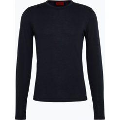 HUGO - Sweter męski - San Paolo 1, niebieski. Niebieskie swetry klasyczne męskie HUGO, m. Za 529,95 zł.