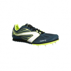 Buty do biegania z wkrętami AT CROSS. Niebieskie buty do biegania damskie marki KALENJI, z gumy. Za 199,99 zł.