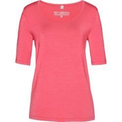 T-shirt z modalu bonprix jasnoróżowy. Czerwone t-shirty damskie bonprix. Za 37,99 zł.