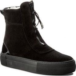Botki MARC O'POLO - 708 14196001 309 Black 990. Czarne buty zimowe damskie Marc O'Polo, z lakierowanej skóry. W wyprzedaży za 429,00 zł.