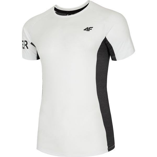 9181c6f8b1b0a4 Koszulka treningowa męska TSMF261 - biały - Białe t-shirty męskie 4f, m, z  nadrukiem, z elastanu. W wyprzedaży za 69,99 zł. - T-shirty męskie -  Koszulki ...