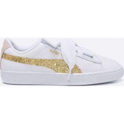 Puma - Buty Basket Heart Glitter. Szare buty sportowe damskie Puma, z gumy. W wyprzedaży za 269,90 zł.