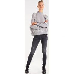 Bluzy damskie: Selected Femme SFMONICA HIGH NECK Bluza light grey melange