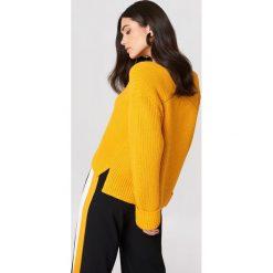 Swetry damskie: MANGO Sweter z dekoltem V - Orange