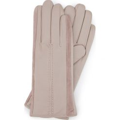 Rękawiczki damskie 39-6-559-6A. Brązowe rękawiczki damskie Wittchen, z zamszu. Za 99,00 zł.