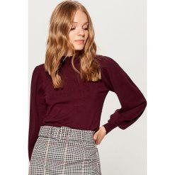 Sweter z bufiastymi rękawami - Bordowy. Czerwone swetry klasyczne damskie Mohito, l. Za 99,99 zł.