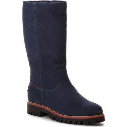 Kozaki PANAMA JACK - Tania B31 Nobuck Marino/Navy. Niebieskie buty zimowe damskie Panama Jack, z nubiku, przed kolano, na wysokim obcasie, na obcasie. Za 789,00 zł.