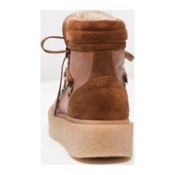 Botki damskie lity: Bianco PLATFORM WARM HIKER  Ankle boot cognac
