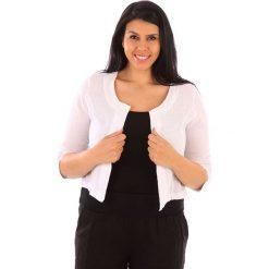 Kardigany damskie: Lniany kardigan w kolorze białym