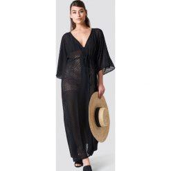 NA-KD Boho Sukienka-płaszcz z szyfonu - Black. Czarne sukienki boho marki bonprix, na co dzień, z szyfonu. Za 161,95 zł.