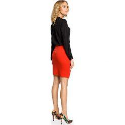 HEIDI Klasyczna spódniczka ołówkowa z zamkiem - czerwona. Czerwone spódnice wieczorowe Moe, z dzianiny, midi, ołówkowe. Za 59,90 zł.