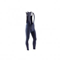 Spodnie na rower szosowy z szelkami 500 męskie. Niebieskie odzież rowerowa męska marki QUECHUA, m, z elastanu. Za 149,99 zł.