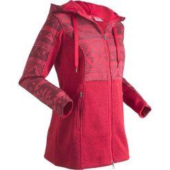 Bluza dzianinowa z polaru, długi rękaw bonprix ciemnoczerwony. Czerwone bluzy polarowe marki bonprix, z długim rękawem, długie. Za 109,99 zł.