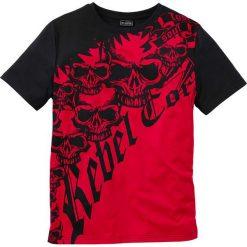 T-shirty męskie: T-shirt Slim Fit bonprix czerwono-czarny