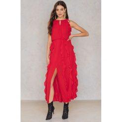Długie sukienki: Moon River Długa sukienka z marszczeniami - Red