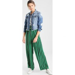 Bomberki damskie: Bardot TRASHED LACE UP JACKET Kurtka jeansowa indigo