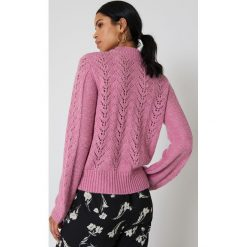 Swetry damskie: NA-KD Dzianinowy sweter - Pink