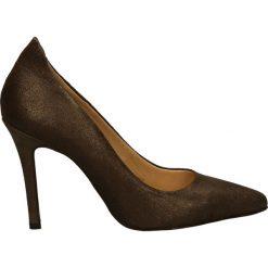 Czółenka - X012204 NOCE. Brązowe buty ślubne damskie Venezia, ze skóry. Za 149,00 zł.