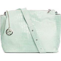 Torebki klasyczne damskie: Skórzana torebka w kolorze miętowym – 30 x 27 x 13 cm