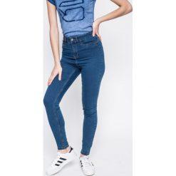 Noisy May - Jeansy Great Lexi. Niebieskie jeansy damskie rurki marki Noisy May, z podwyższonym stanem. W wyprzedaży za 89,90 zł.