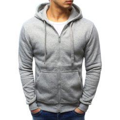 Bluzy męskie: Bluza męska z kapturem rozpinana szara (bx2412)