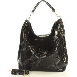 Skóra naturalna torebka worek Isabella MAZZINI czarna. Czarne torebki worki MAZZINI, ze skóry. Za 279,90 zł.