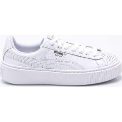 Puma - Buty Basket Platorm Ocean. Szare buty sportowe damskie marki Puma, z materiału. W wyprzedaży za 359,90 zł.