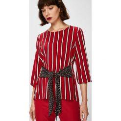 Answear - Bluzka Falling in Autumn. Brązowe bluzki z odkrytymi ramionami ANSWEAR, l. W wyprzedaży za 79,90 zł.