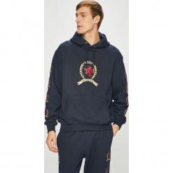 Tommy Jeans - Bluza. Czarne bluzy męskie rozpinane Tommy Jeans, l, z aplikacjami, z bawełny, z kapturem. Za 649,90 zł.
