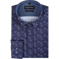 Koszula SIMONE KDWS000180. Czarne koszule męskie na spinki marki TOM TAILOR DENIM, l, z bawełny, button down, z długim rękawem. Za 199,00 zł.