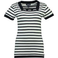 """T-shirty damskie: Koszulka """"Jitalienne"""" w kolorze biało-granatowym"""