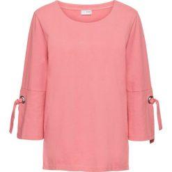 Bluza z oczkami i sznurowaniem bonprix dymny różowy. Czerwone bluzy damskie bonprix, w paski. Za 79,99 zł.