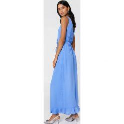 Samsoe & Samsoe Długa sukienka Limon - Blue. Niebieskie długie sukienki Samsøe & Samsøe, z kopertowym dekoltem, z długim rękawem, kopertowe. W wyprzedaży za 283,48 zł.