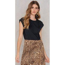 T-shirty damskie: Rut&Circle T-shirt Jinni roll-up – Black