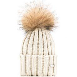 85-HF-007-0 Czapka damska. Szare czapki damskie Wittchen, na zimę, z dzianiny. Za 69,00 zł.