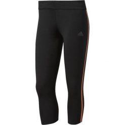 Spodnie sportowe damskie: Adidas Spodnie Response Tights 3/4 Czarno-pomarańczowe r. S (AZ2839*S)